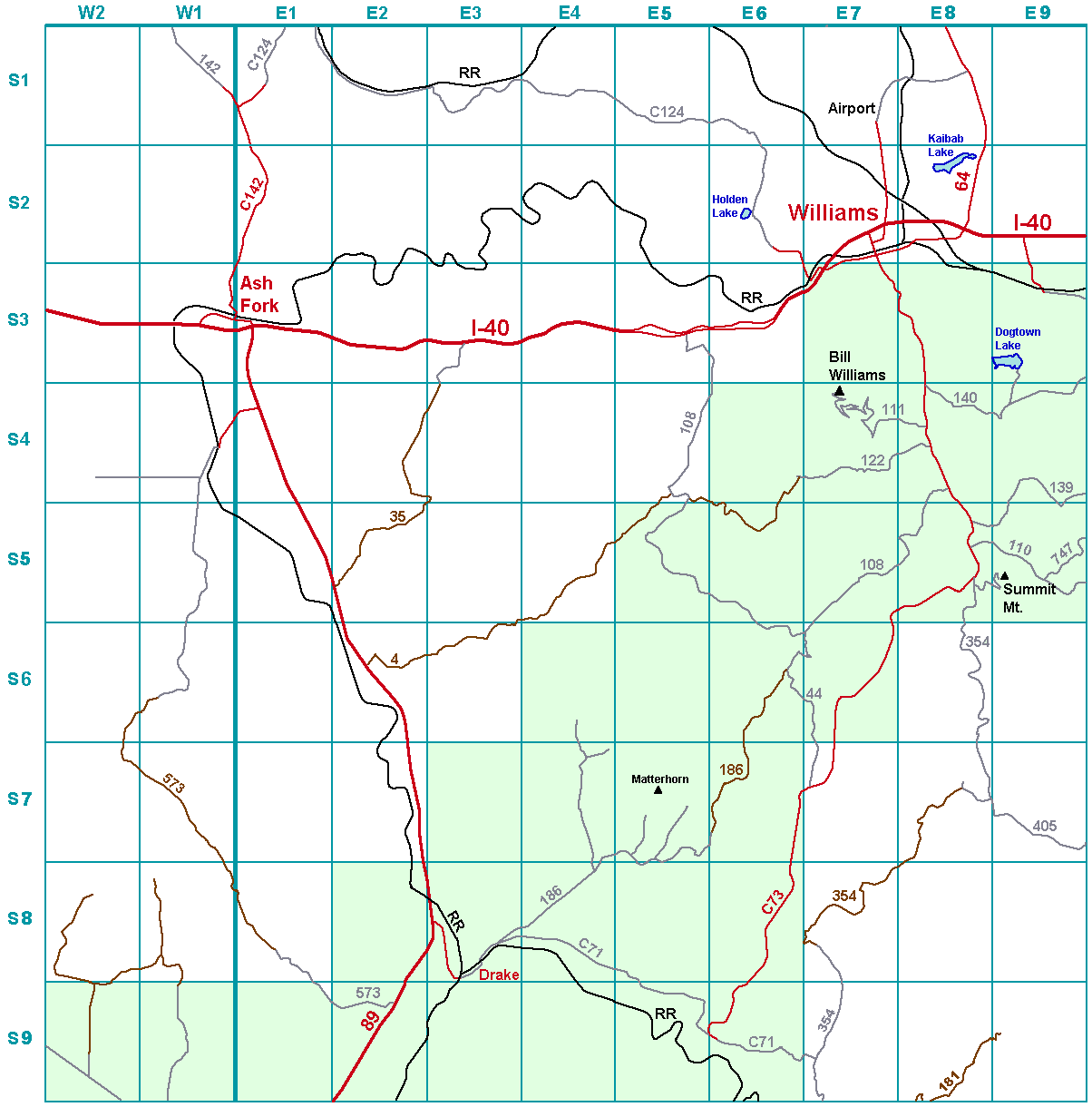 Williams index map